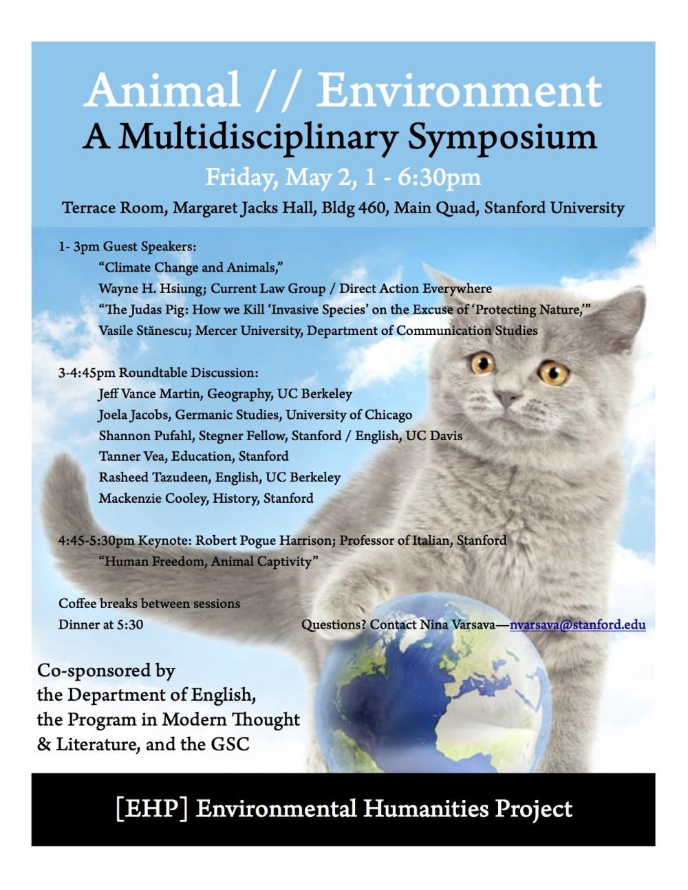 Animal and Environmental Studies Symposium